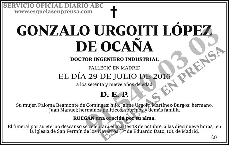Gonzalo Urgoiti López de Ocaña